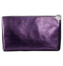 AVON MARK MIDI GLAM COSMETIC BAG - 1 PURPLE BAG ONLY ()