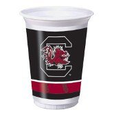 (96 NCAA South Carolina Gamecocks Plastic Drinking Tailgate Party Cups -20 Ounces)