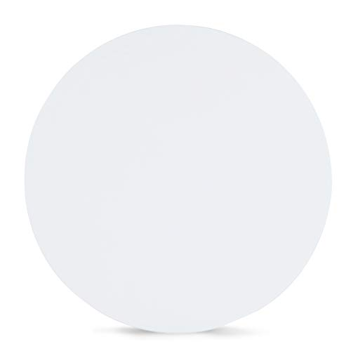 Sunon Round Bistro Table Small Round Table with X-Style Pedestal for Pub Table/Cafe Table/Office Table/Conference Table (Moon White,29.5-Inch Height) by Sunon (Image #1)