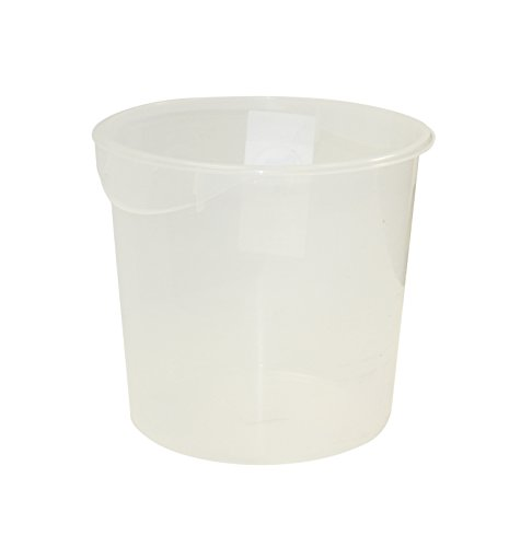 Rubbermaid Commercial Products Plastic Round Food Storage Container for Kitchen/Food Prep/Storing, 18 Quart, Clear (FG572724CLR) ()