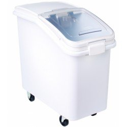 Rubbermaid 360288WHI ProSave Mobile Ingredient Bin, 26.18gal, 15 1/2w x 29 1/2d x 28h, White ()