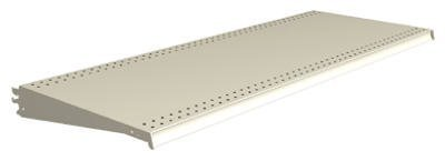 Lozier Store Fixtures DL419N PLT 4 ft. Wide x 19 in. Deep44; Platinum Lozier Shelf - Pack of 2 (Lozier Fixtures Store)
