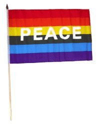 Dozen Rainbow Peace 12x18in Flags product image