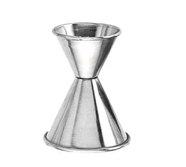 American Metalcraft 5/8 X 1 1/4 Ounce Stainless Steel Bar Jigger (04-0345) Category: Bar Jiggers (Metalcraft Steel American Measuring Stainless Cups)