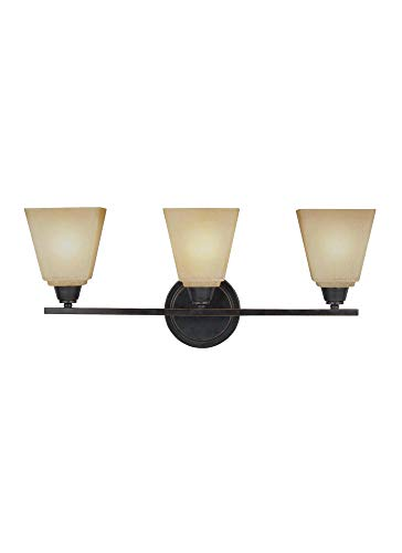 - Sea Gull Lighting 4413003EN3-845 Three Light Wall/Bath, Flemish Bronze