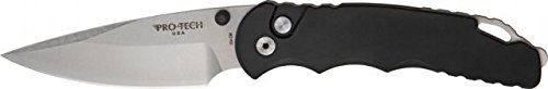 Protech Model TR-4 Tactical Fold Knife, stonewash finish 154