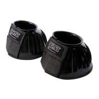 Roma PVC Ribbed Bell Boots Double Tape Color: Black, Size: Large by Weatherbeeta USA Pet