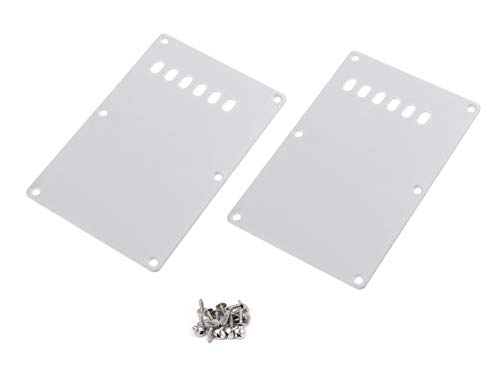Timiy Pack of 2 Plastic Electric Guitar Back Plate Tremolo Cavity Cover Backplate with Mounting Screw (Wihte)