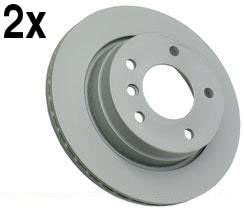 For BMW E36 M3 Set of 2 Front Left+Right Brake Discs ZIMMERMANN COAT Z