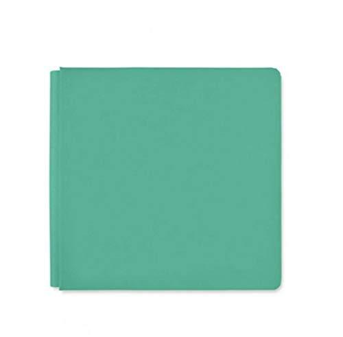 Memory Scrapbook 12x12 Album - 12x12 Jade Light Green Blend & Bloom Album Book Cloth Cover by Creative Memories