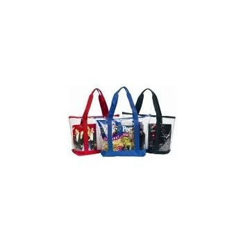 Amazon.com  Large Clear Tote Bag with Zipper Closure (Red)  Shoes ec6c49c76eae2