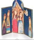 DEMDACO Nativity Hinged Tryptic Table Art
