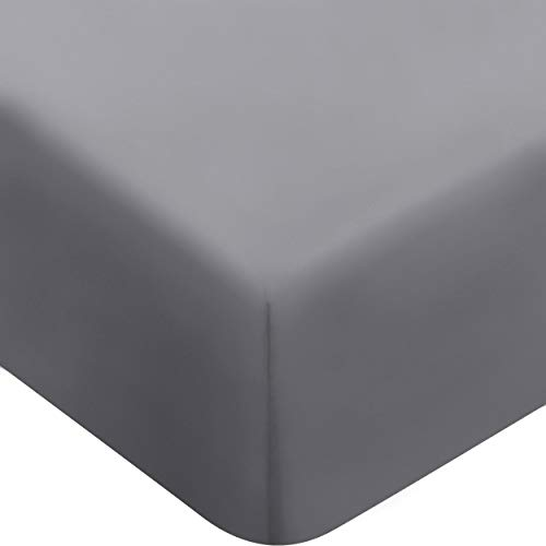 Utopia Bedding Fitted Sheet - Deep Pocket Brushed Microfiber (Queen, Grey)