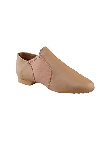 Capezio Women's Economy Jazz Slip On, Caramel, 8M US