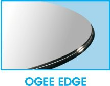 20'' Round Glass Table Top 1/2'' Thick Ogee Edge by Spancraft Glass (Image #1)