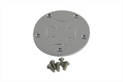 V-Twin 42-0961 - Maltese Ignition System Cover 5-Hole Chrome