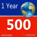 Iridium Global Prepaid Airtime SIM Card (500 Minutes)