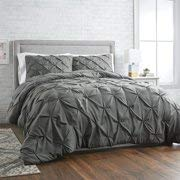 Better Homes and Gardens Pintuck 3-Piece Bedding Comforter Mini Set, Grey - FULL/QUEEN