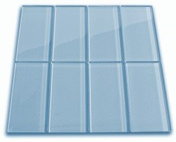 Sky Blue Glass Subway Tile 3