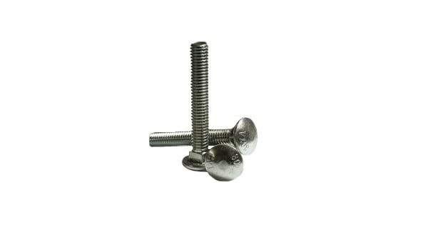 Inch 5//8-11 x 12 Carriage Bolts A307 Grade A ZINC CR+3 Quantity: 5 6 Thread Under-Sized Partially Threaded,Size: 5//8-11,Length: 12,Head: Round,Drive: External Square,Steel,Finish: Zinc