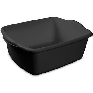 18 Quart Sterilite Black Dishpan Basin, Multi-purpose, 17.5 x 14.25 x 7 (Dish Pans Plastic Black compare prices)