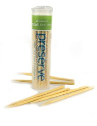 Preserve Toothpicks, Mint Tea Tree 35 CT by Preserve