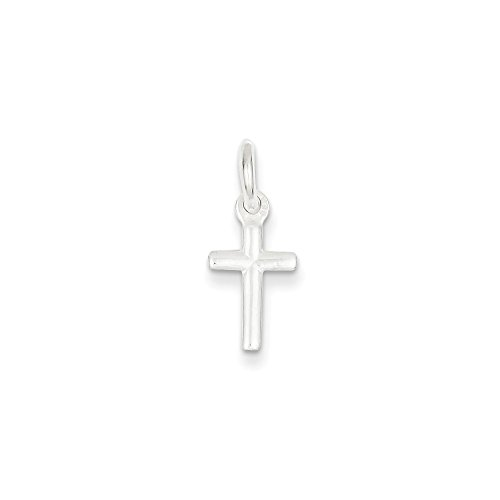 Sterling Silver Small Cross Charm (18 x 10mm) - Sterling Silver Small Cross Charm