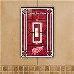 NHL Detroit Red Wings Red Art-Glass Switch Plate Cover