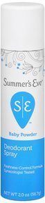 Special Pack of 5 SUMMERS EVE SPRAY BABY POWDER 2 oz X 5