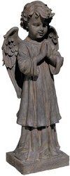 Design Toscano The Angel's Message Statue Finish: Antique Iron