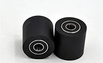 20mm 10mm; outer diameter 2pcs 10X30X20mm PU polyurethane rubber bearing pinch roller pulley machine wheel//inner diameter 30mm; width
