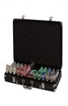 LAS Vegas 500 Poker CHIP Set in Black Aluminum CASE (#2685L)