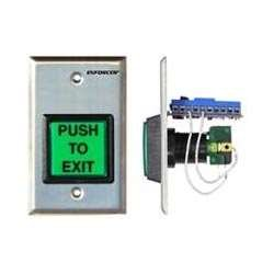 SD-7202GC-PTQ Seco-Larm Stainless-Steel Illuminated Request-to-Exit Plate w/Timer