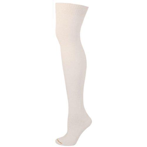 AJs Knee High Nylon Socks - White - Socks Adult Sanitary