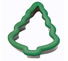Wilton Christmas Tree Comfort Grip Stainless Steel Cookie Cutter (Grip Cutter)