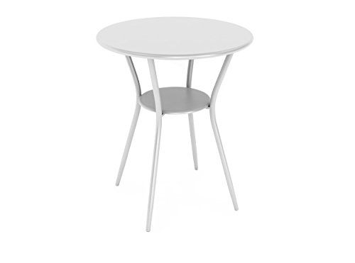 dar Living Bistro Table, White (White Powder Coated Outdoor Furniture)