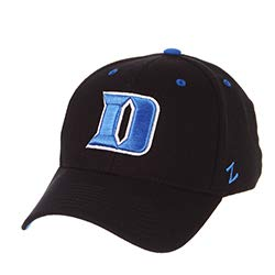 (Zephyr Duke University DU Dukies Blue Devils Black DH Adult Mens Flex Fitted Hat/Cap Size XL)