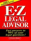 E-Z Legal Advisor, Legal E-Z, 156382101X