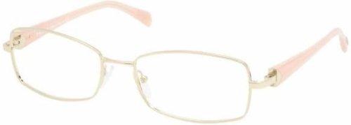 - Prada Pr59nv Eyeglasses Zvn1o1 Pale Gold Demo Lens 52 17 135