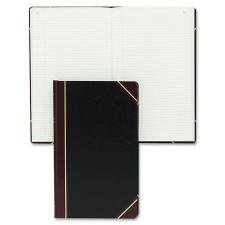 - National 57131 Texthide Record Book Black/Burgundy 300 Green Pages 14 1/4 x 8 3/4
