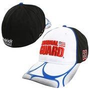 Mens Dale Earnhardt Jr. Chase Authentics Black/White National Guard Geo Flex Hat ()