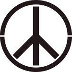 Peace Sign Stencil - 25 inch - 60 mil ultraflex ind