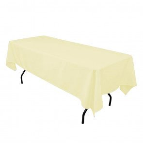 By Florida Tablecloth 60x120 Inch Polyester (Light Yellow)