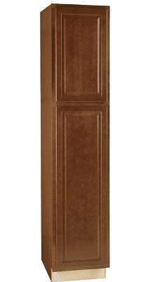 (American Classics Kitchen Pantry Cabinet 18 In. x 24 In. x 84 In. Cognac Maple )