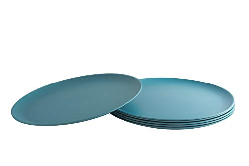 Natura Green- Bamboo Plates- Set of 6-10 inches (Blue) -