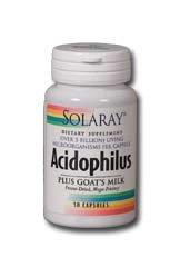 [Solaray Acidophilus Plus Goat's Milk 3billion Supplement, 100 Count] (Goat Milk Digestion)