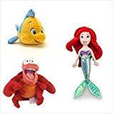 Disney Official Exclusive The Little Mermaid 3 Pcs Plush Set : 12
