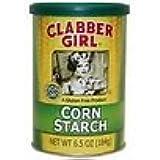 Clabber Girl Non GMO Gluten Free Corn Starch 6.5 oz (2 Can Pack)