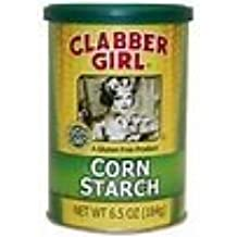 Clabber Girl Non GMO Gluten Free Corn Starch 6.5 oz (2 Can Pack)