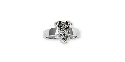 Airedale Terrier Jewelry Sterling Silver Airedale Terrier Ring Handmade Dog Jewelry AR7-R